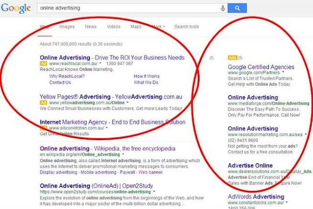Image result for إعلانات محرك البحث جوجل