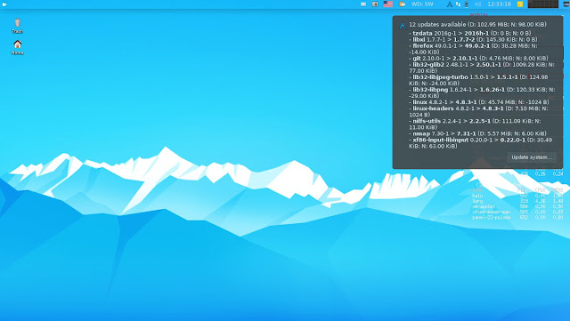 Arch XFerience Linux Kalu Update Checker