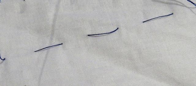 Hilos flojos por el revés de la tela