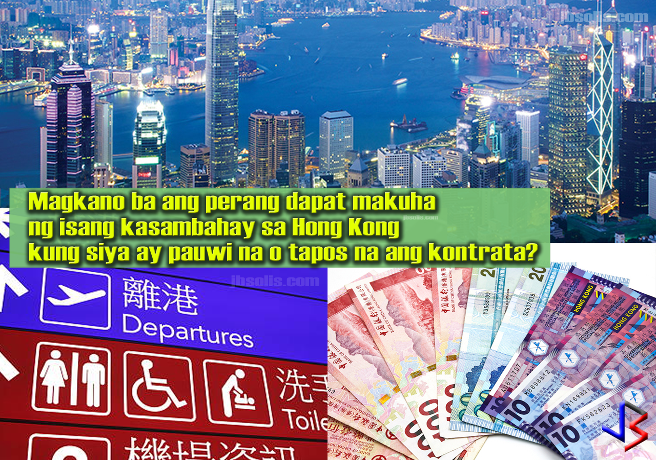 A large number of foreign workers in Hong Kong is working as domestic helpers. Household service workers comprise about 3% of the Hong Kong population alone. This is due to the fact that most of Hong Kong's citizens are working, leaving home and children in the care of household service workers. As of October 2016, newly hired foreign domestic helpers in Hong Kong are entitled to a minimum allowable wage of HK$4,310 per month.  But for any reason, what happens if the employer-employee relationship deteriorates and one or the other decide to end the terms of employment? What benefits can a household service worker get upon termination of employment contract?  Either the employer or the employee may terminate the contract by giving one month's notice or one month's payment in lieu of notice to the other party. The following are included in the Termination payment: Unpaid salary Payment in lieu of notice, if any; Payment in lieu of any annual leave not availed; Long service payment/severance payment, where appropriate; and Any other sum under the employment contract, e.g. free return passage, food and traveling allowance, etc.  Severance Payment A foreign domestic helper is entitled to severance payment if he/she: has served 24 months continuously with the same employer prior to the termination and is dismissed/laid off or the contract is not being renewed by reason of redundancy An employee who wishes to claim for severance payment should serve a written notice to his employer within three months after the dismissal/ lay off takes effect. The employer shall make the severance payment to the employee not later than two months from the receipt of such a notice.   Long Service Payment A foreign domestic helper is entitled to long service payment if he/she: has no less than 5 years of service with the same employer prior to the termination, AND is dismissed or the contract is not being renewed by reason other than serious misconduct or redundancy resigns on ground of ill 