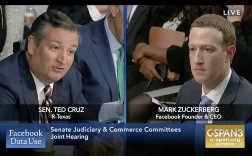 Mark Zuckerberg and ted cruz conservatives - conservadores