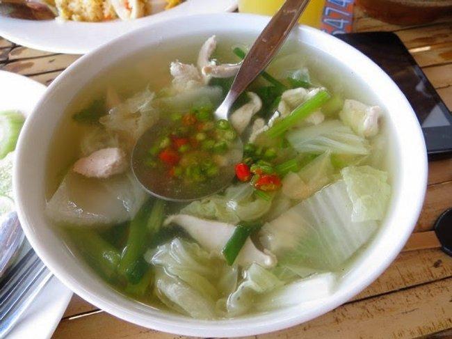 Тайский суп с перцем чили