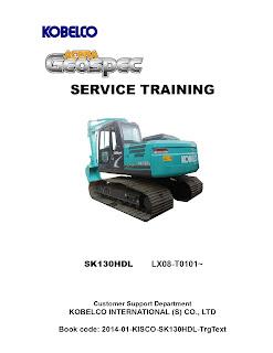 Shop manuals Kobelco sk130HDL-8b