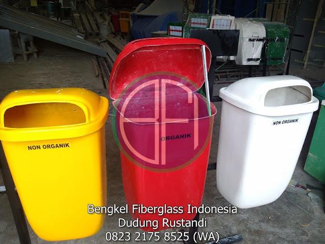 harga tempat sampah fiber 3 pilah
