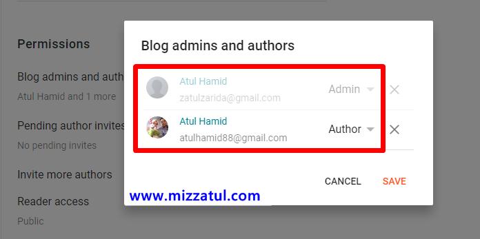 Cara tambah emel dan author di blogspot