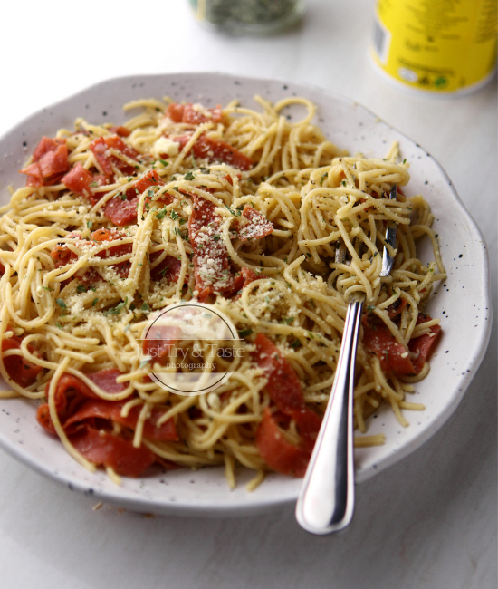 Resep Spaghetti Smoked Beef JTT