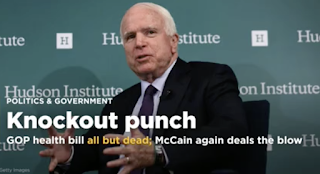 GOP's 'Obamacare' repeal all but dead; McCain deals the blow