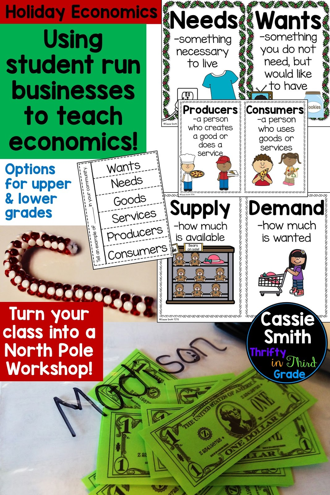 Holiday Economics {North Pole Workshop} - Thrifty in Third Grade [ 1600 x 1067 Pixel ]