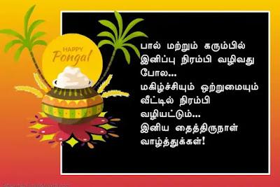 Pongal greetings in tamil - பொங்கல் வாழ்த்துக்கள்