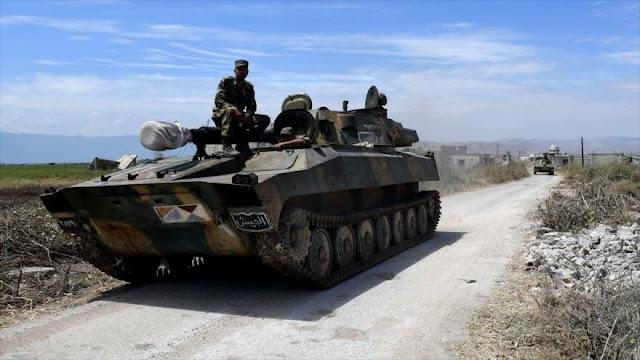 Ejército sirio avanza contra terroristas en el noroeste del país