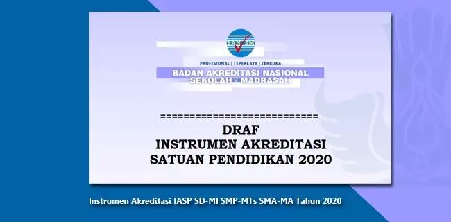 Instrumen Akreditasi IASP SD-MI SMP-MTs SMA-MA Tahun 2020