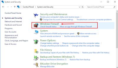 windows firewall aktifkan