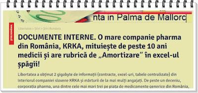krka romania mituieste medicii sa prescrie medicamente