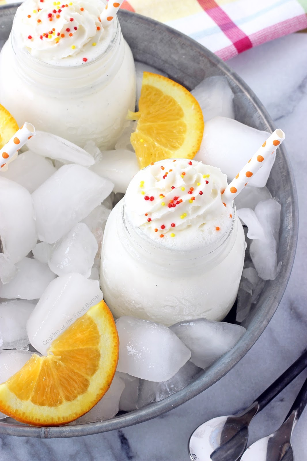 Orange Creamsicle Mini Shakes | Cooking on the Front Burner #milkshake