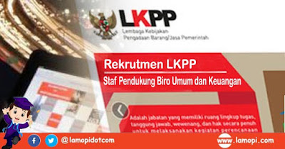 Lowongan Kerja LKPP Agustus 2020