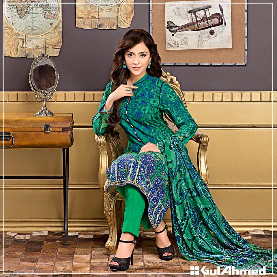 da11f336e2 Pakistani Suits in Delhi | Pakistani suits Online | Pakistani Designer  Suits Delhi: Gulahmed Velvet Silk Collection 2015