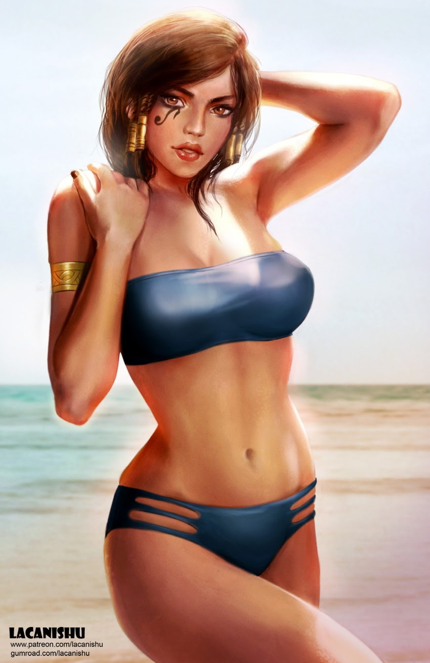 pharah at the beach