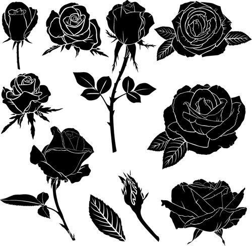Diseños de rosas negras