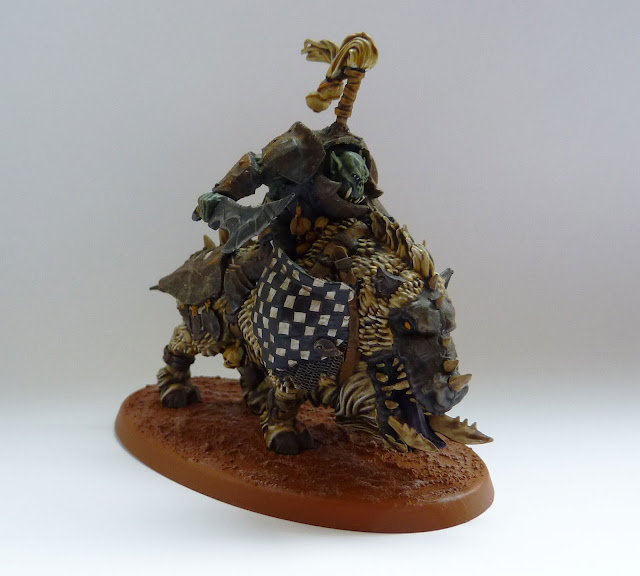 Ironjawz Gore-Grunta with pig iron choppa for Warhammer Age of Sigmar