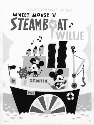 Designer Con 2019 Exclusive Disney's Steamboat Willie by Joey Chou x Cyclops Print Works