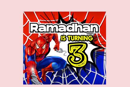 Kumpulan Ide Desain Banner Ulang Tahun Anak Tema Spiderman, Ultraman, Avenger