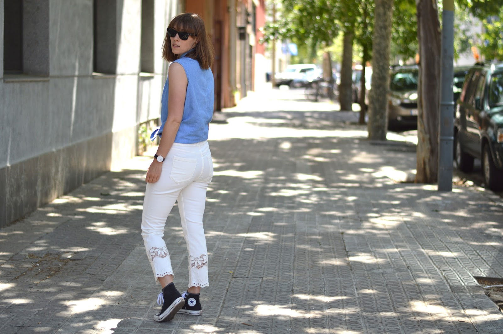 How to wear style double denim for spring