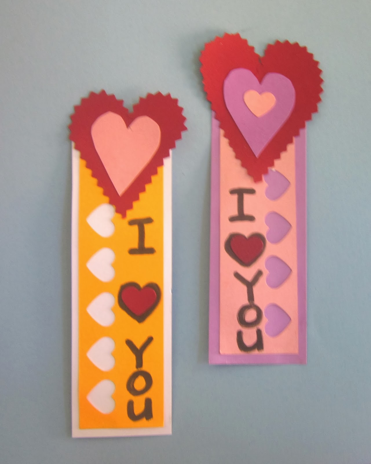Valentine's Day heart Bookmarks