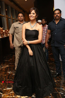 Telugu Anchor Actress Anasuya Bharadwa Stills in Strap Less Black Long Dress at Winner Pre Release Function  0046.jpg