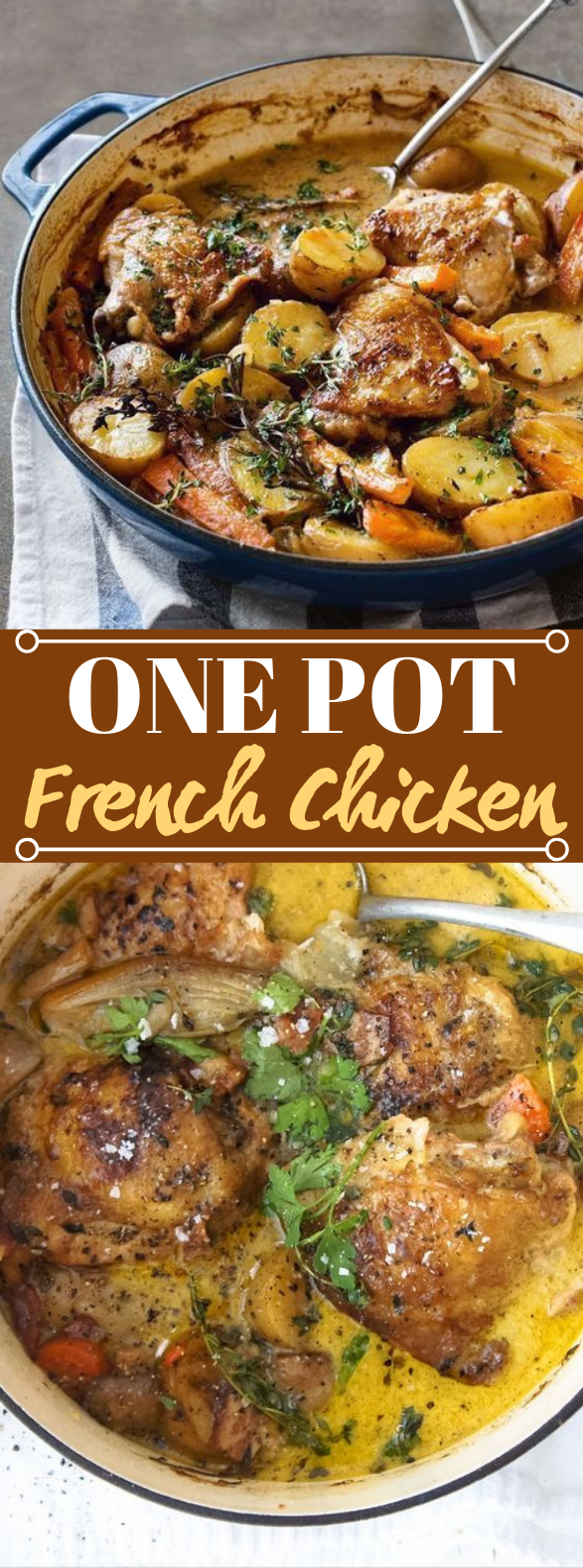 One-Pot French Chicken #dinner #chicken