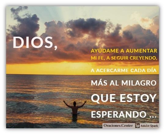Oración de Fe en Dios para Seguir Creyendo hasta Recibir el Milagro