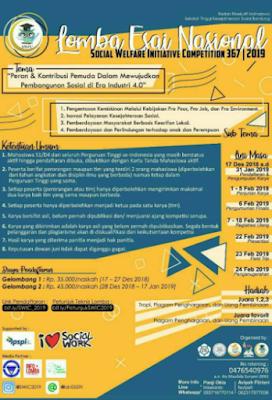 Lomba Menulis Esai Nasional SWIC 2019 di STKS Bandung