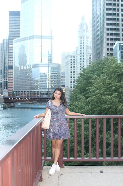 Kelly Fountain in front of Trump Tower in Chicago