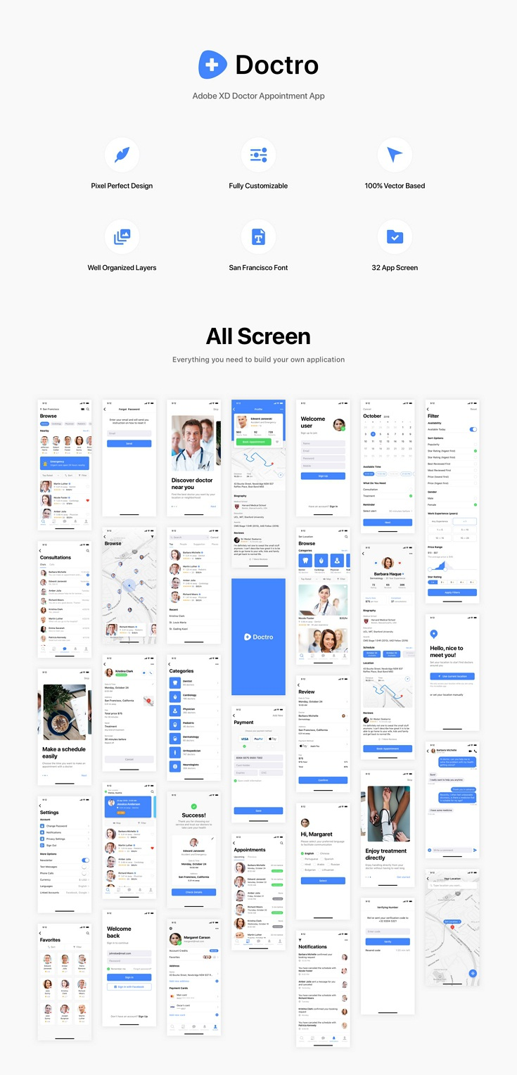 Best Adobe XD Doctor Appointment App