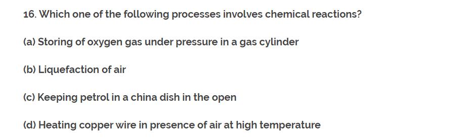 CH-1 Class 10th NCERT Exemplar Question Answer classXscience Q16.