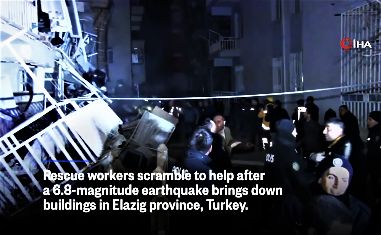 Earthquake Collapsed Buildings In Elazig Turkey.