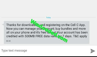 Get Free 500MB and More via Cell C App