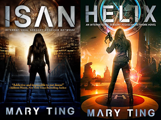 Front covers of International Sensory Assassin Network series by Mary Ting