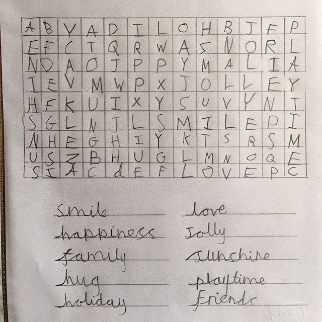 Queen Elizabeth Thanks Little Boy for Word Search Puzzle