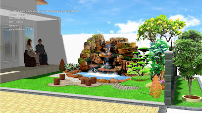 taman relief depan rumah jasataman coid