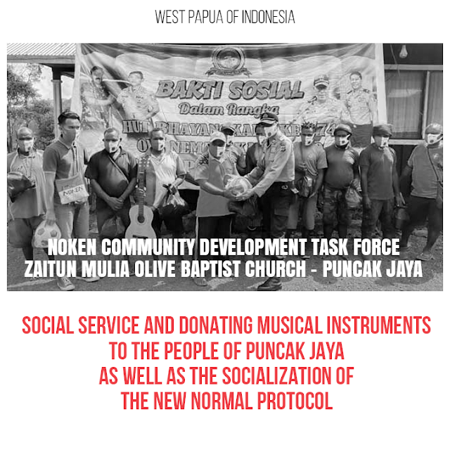 Welcoming the 74th Bhayangkara Day, the National Police Noken Binmas Task Force Holds Social Service