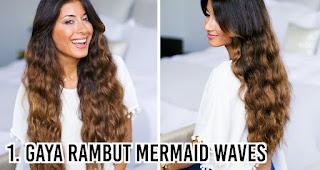 Gaya rambut Mermaid waves