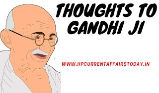 Thoughts of Gandhi ji