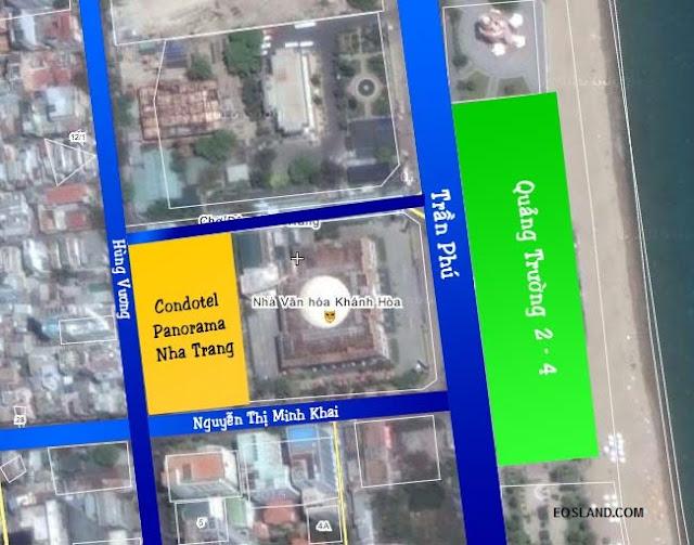 Vị trí Condotel Panorama Nha Trang