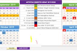 Download Kalender Pendidikan Paud (KB dan TK) 2019-2020