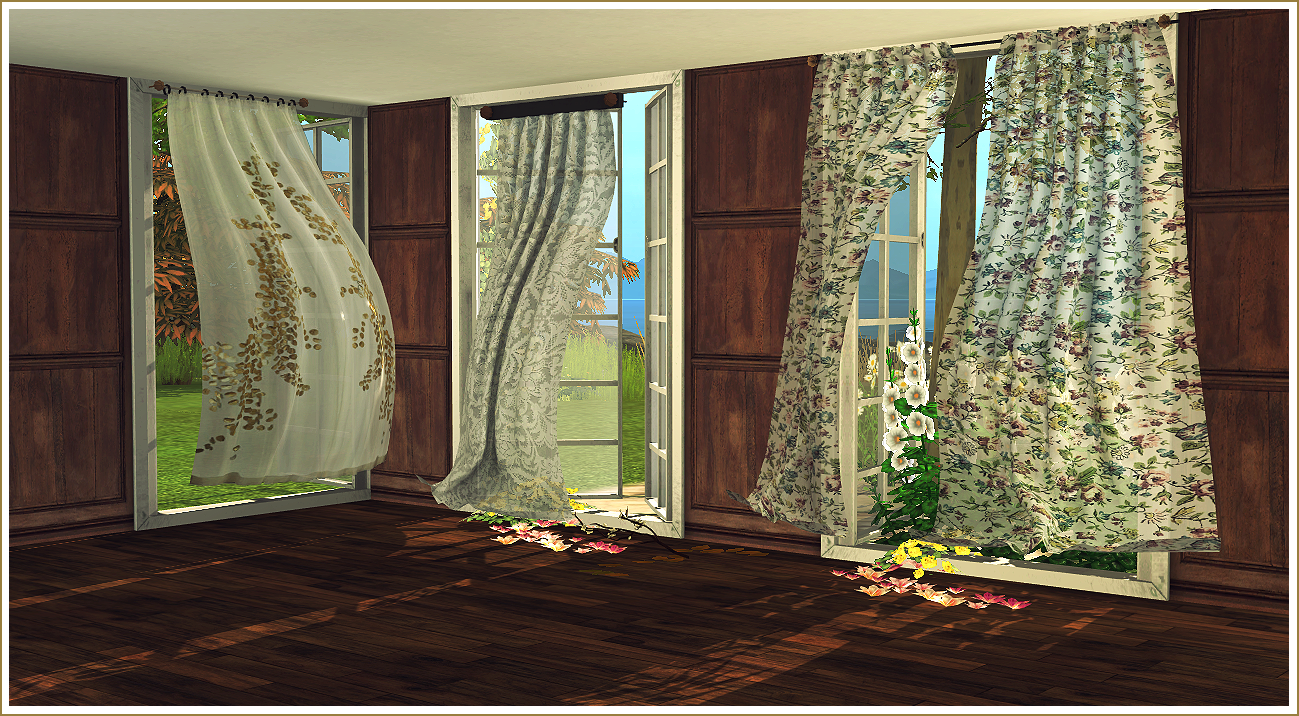 My Sims 4 Blog Wind Blown Curtains Antique Mirrors