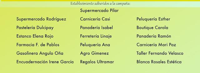 Establecimientos participantes en la campaña