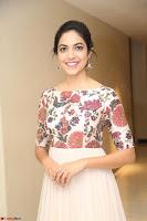 Ritu Varma smiling face Cream Anarkali dress at launch of OPPO New Selfie Camera F3 ~  Exclusive 055.JPG