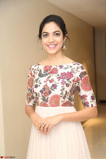 Ritu Varma smiling face Cream Anarkali dress at launch of OPPO New Selfie Camera F3 ~  Exclusive 055.JPG