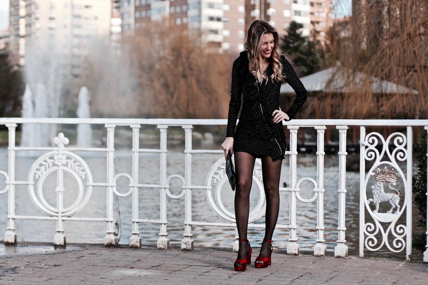 vestido ajustado zara fiesta