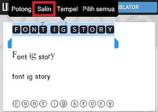 Cara Membuat Tulisan Unik di IG Story Dengan Menambah Font Keren